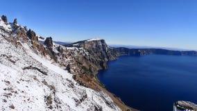 Cratere blu del lago Immagini Stock Libere da Diritti