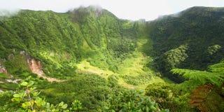 Cratere del San Cristobal del san Fotografie Stock
