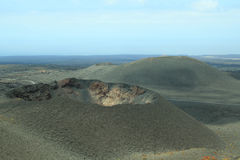 Cratere del vulcano Fotografie Stock
