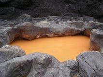 Cratere del vulcano del primo piano Fotografia Stock Libera da Diritti