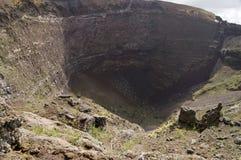 Cratere del vulcano del Vesuvio Fotografie Stock Libere da Diritti