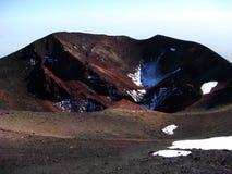 Cratere del vulcano dell'Etna Immagine Stock Libera da Diritti