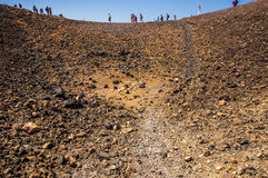 Cratere del vulcano di Santorini fotografie stock
