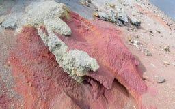 Cratere del vulcano dopo il erruption Fotografia Stock