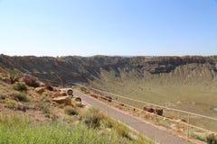 Cratere della meteora fotografie stock libere da diritti