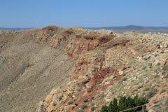 Cratere della meteora immagini stock