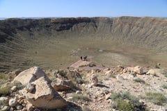 Cratere della meteora fotografia stock libera da diritti