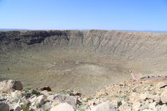 Cratere della meteora immagini stock libere da diritti