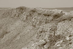 Cratere della meteora fotografie stock