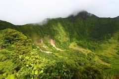 Cratere della st San Cristobal Fotografie Stock