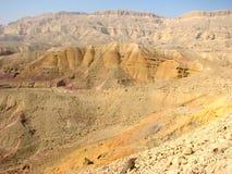 Cratere in deserto di Negev Immagini Stock
