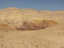 Cratere in deserto di Negev Fotografie Stock Libere da Diritti