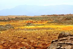 Cratere di Dallol, Etiopia, Africa orientale fotografie stock