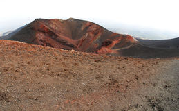 Cratere di Etna Fotografia Stock