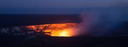 Cratere di Halemaumau Fotografie Stock