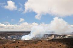 Cratere di Kilauea, grande isola Immagine Stock