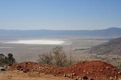 Cratere di Ngorongoro dalla Tanzania, Africa Fotografia Stock Libera da Diritti