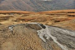 Cratere fangoso del vulcano Fotografia Stock Libera da Diritti
