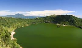 Cratere Filippine tagaytay del vulcano di Taal Fotografie Stock