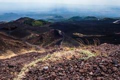 Cratere Silvestri Etna Immagine Stock