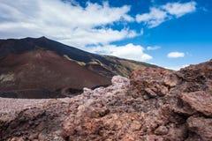 Cratere Silvestri Etna Immagini Stock