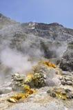 Cratere vulcanico della solfatara Immagine Stock