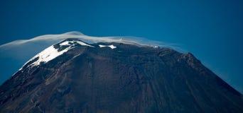 Cratere vulcanico di Tungurahua fotografie stock