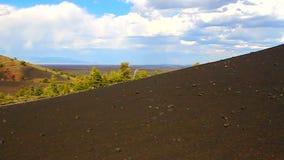 Crateri del cono dell'inferno della luna Fotografie Stock Libere da Diritti