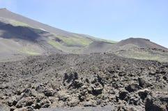 Crateri di Etna. La Sicilia. L'Italia. Fotografie Stock Libere da Diritti