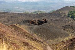 Crateri di Etna in Sicilia fotografie stock