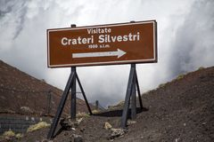Crateri Silvestri at Sicily, Italy Royalty Free Stock Image