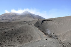 Craters of Etna. Sicily. Italy. Royalty Free Stock Photo