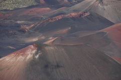 Craters inside Haleakala volcano. Royalty Free Stock Photography