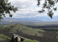 Craters - lava flows. Craters of the Moon national Park, Idaho Stock Image
