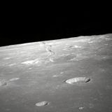 Craters on lunar surface Royalty Free Stock Image