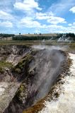 Craters of the Moon. A thermal activity area located outside of taupo New Zealand royalty free stock image