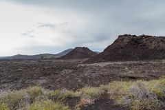 Craters of the Moon. A cinder cone in Craters of the Moon National Park Stock Images