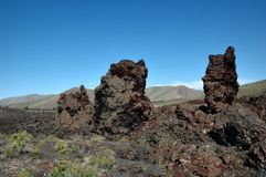 Craters of the Moon, Idaho, USA. Craters of the Moon , landscape with black volcanic basalt ,a National Monument in Idaho, USA royalty free stock image