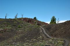 Craters of the Moon, Idaho, USA. Craters of the Moon , landscape with black volcanic basalt ,a National Monument in Idaho, USA royalty free stock photo