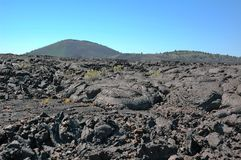 Craters of the Moon, Idaho, USA. Craters of the Moon , landscape with black volcanic basalt ,a National Monument in Idaho, USA royalty free stock images