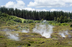 Craters of the Moon, Lake Taupo, New Zealand Stock Photos