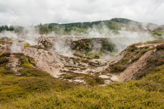 Craters of the Moon at Taupo Stock Photography