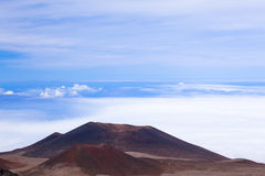 Craters from past eruptions. Craters from past Mauna Kea eruptions at the summit of the ancient volcano Stock Photos
