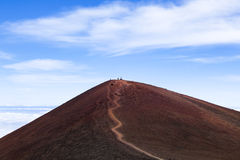 Craters from past eruptions. Craters from past Mauna Kea eruptions at the summit of the ancient volcano Royalty Free Stock Photos
