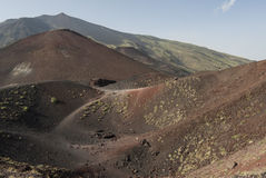 Craters siilvestri etna catania sicily italy europe Stock Images