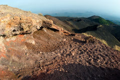 Craters Silvestri of the Etna. Rock volcanic of craters Silvestri of the Etna in Sicilia stock photo
