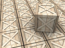 Crates background Royalty Free Stock Image