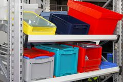 Crates and boxes Royalty Free Stock Photo
