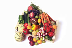 Crates of fruit and vegetables Stock Photo