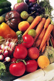 Crates of fruit and vegetables Stock Photos